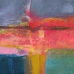 Dawn-Tuscany.-Mixed-Media-On-Canvass.-100x100cm